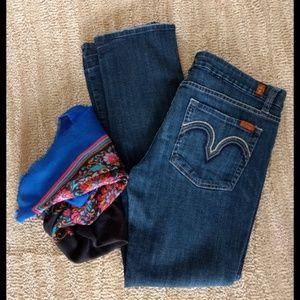 7 For All Mankind Kate Straight leg Jeans Size 29